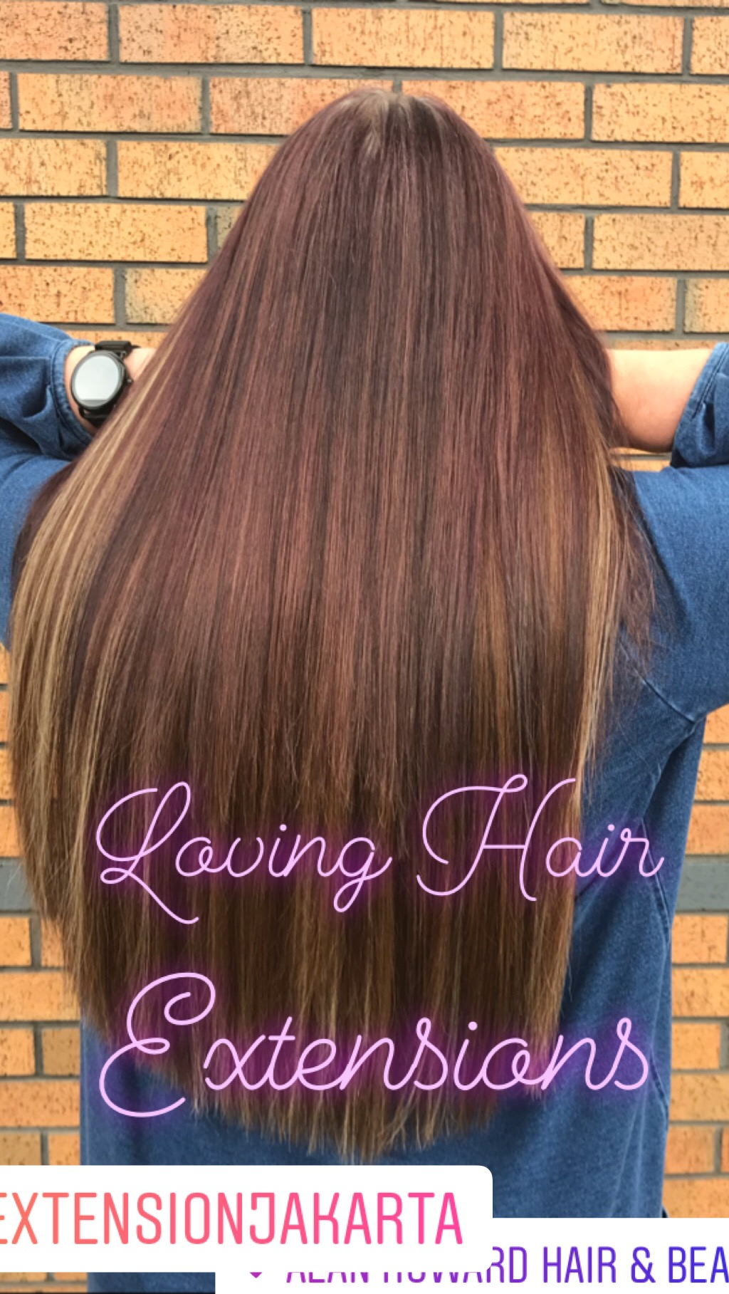 Deep auburn hair extensions