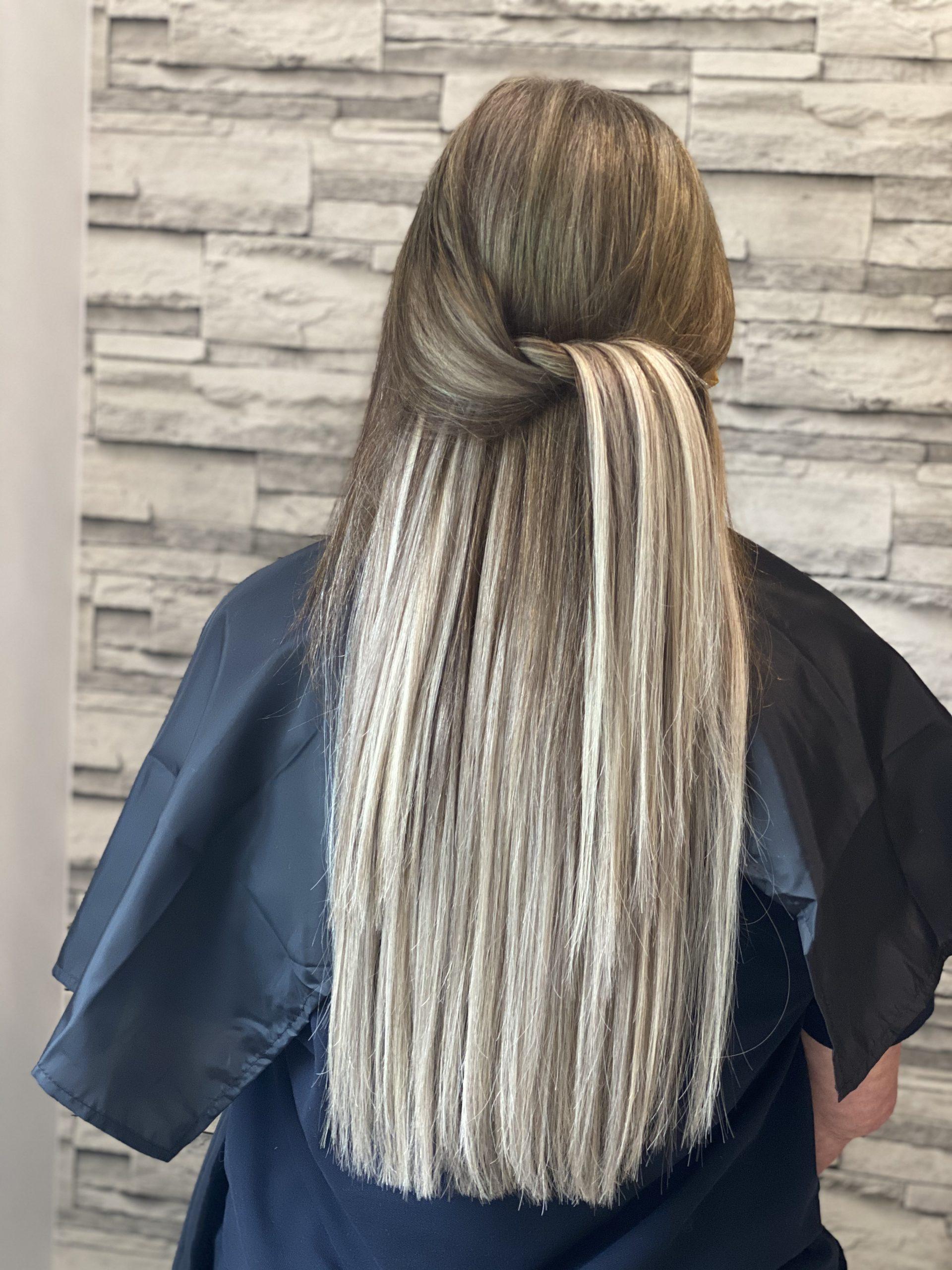 Balyage hair extensions
